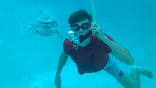 BREATHING UNDERWATER!! (SHARK ATTACK)