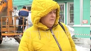 Город несчастий - в Дзержинске вторая женщина тяжело пострадала от упавшего льда