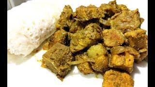 Pork Green Masala Curry   Pork Green Curry Mangalorean Recipe