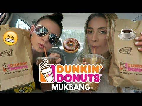 Dunkin' Donuts Mukbang!! Food & Drink (Car Mukbang)
