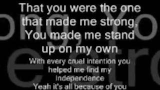 Jordyn Taylor~Strong +Lyrics!