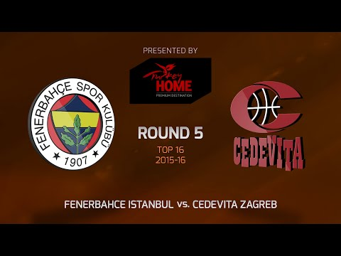 Highlights: Top 16, Round 5, Fenerbahce Istanbul 86-73 Cedevita Zagreb