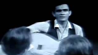 Nervous young Johnny Cash ~ rare footage during song about t