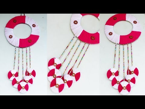 Diy Wall Hanging Using Woolen And Old Bangles Home Decore Idea Best ...