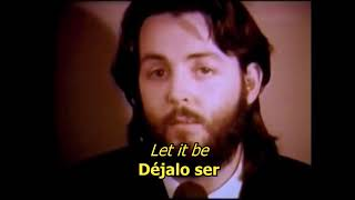 Let it be- The Beatles (LYRICS/LETRA) [Original]