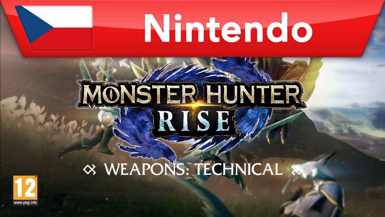Monster Hunter Rise - technické zbraně | Nintendo Switch