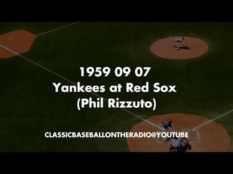 1959 09 07 Yankees at Red Sox Phil Rizzuto