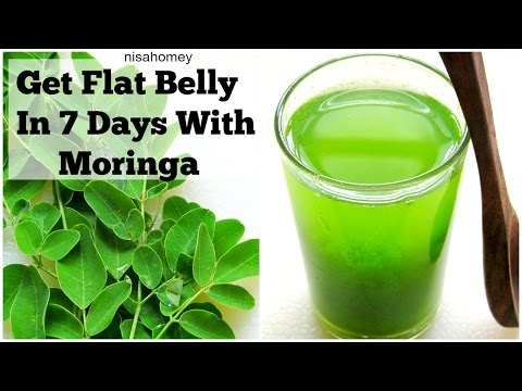 Get Flat Belly/Stomach In 7 Days | Moringa Green Detox Diet Drink