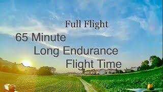 Full Flight Video Of The 65 Minute Flight With a Sub 500g FPV Quad with DJI
