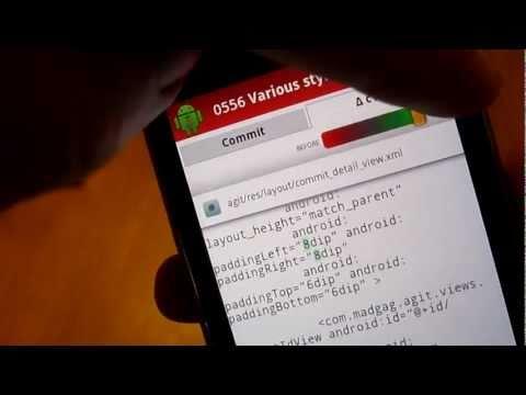 Video of Agit: Git client
