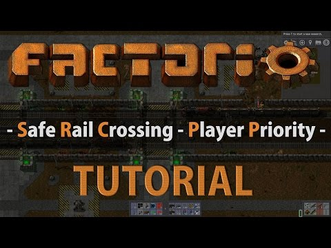 Factorio Tutorial - Safe Rail Crossing (Player Priority
