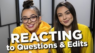 REACTING to Questions & Edits - Merrell Twins Live