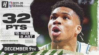 Giannis Antetokounmpo 32 Pts 15 Reb Full Highlights   Bucks vs Magic   December 9, 2019