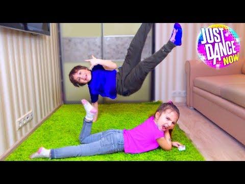 Кто ЛУЧШЕ это ДЕЛАЕТ? Камиль и Аминка ПОСПОРИЛИ! JUST DANCE 2018 Для детей kids children