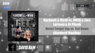 [RE-UPLOADED] Get Down vs. Never Forget You (Hardwell Mashup) [David Nam Remake]