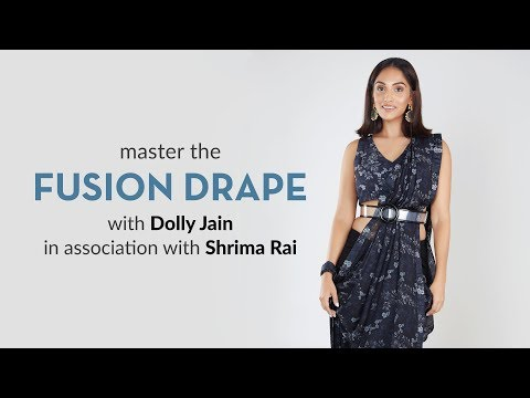 How to drape Fusion Style Saree  By Dolly Jain | Pernias Pop-Up Shop