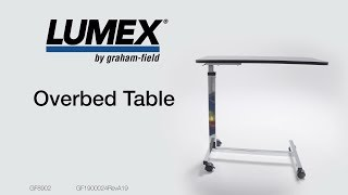 Lumex Overbed Table - How-to Instruction Video