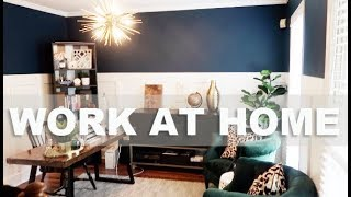 HOME OFFICE REVEAL!!! | Dining Room To Home Office Transformation