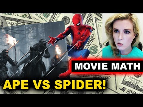 Box Office for War for the Planet of the Apes, Spider-Man Homecoming, Dunkirk Predictions