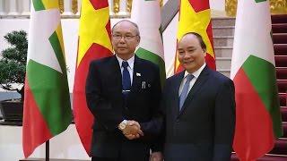 Thủ tướng Nguyễn Xuân Phúc tiếp Chủ tịch Quốc hội Myanmar