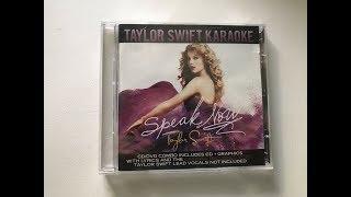 Taylor Swift - Speak Now Album Unboxing - Karaoke