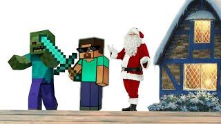 Я спас Санта Клауса! Играем в майнкрафт на сервере Mineplex!