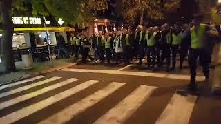 """Протест ДФ-а против диктатуре под паролом ,,СЛОБОДА""""  Подгорица 09.12.2018"""
