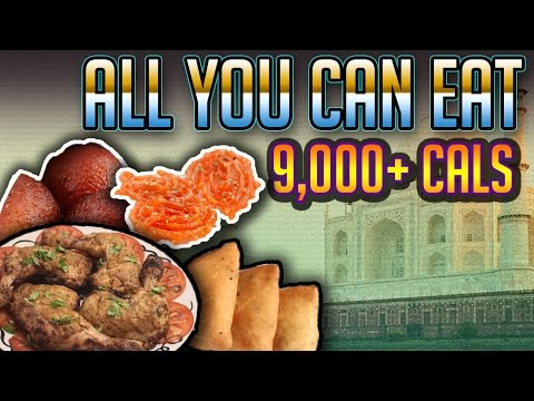 9000+ Calorie Cheat Meal | All you can eat Indian buffet | Food Challenge