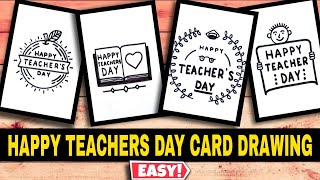 HAPPY TEACHERS DAY CARD DRAWING EASY