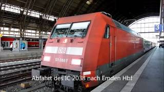 preview picture of video 'Eisenbahnverkehr in Bremen Hbf'