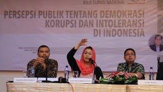 Survey LSI: Warga Pro Demokrasi Lebih Toleransi