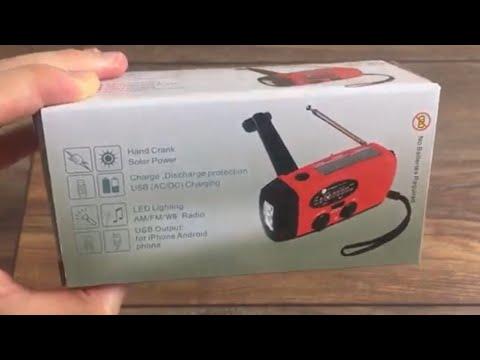 TEST & Review │Anglink Notfall Radio (Mit Kurbel, Solar, Taschenlampe & Powerbank - top für Prepper)