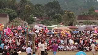 Chung kết bóng chuyền chùa Mèo   Lễ hội Mường khô Bá Thước 2019- Sec 1