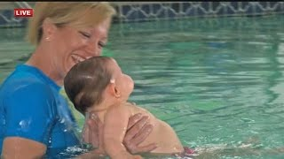 WATCH: Local Instructor Demonstrates Baby Swimming Lessons