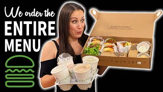 We Eat THE ENTIRE Shake Shack MENU