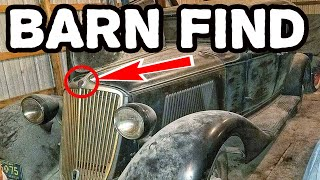 This old vintage car left in a barn for 55 years. What's happened to this abandoned classic car?