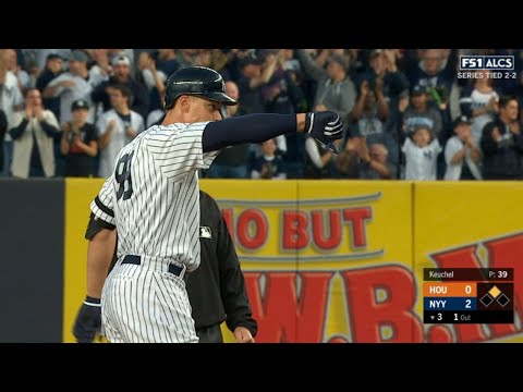 ALCS Gm5: Judge plates Gardner with a double to left