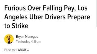 Los Angeles Uber Strike on March 25.