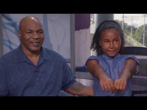 2018 US Open: Mike Tyson & Milan Tyson Visit Tennis Channel Set