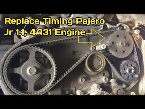 How to Mitsubishi Mini Pajero Jr 1.1 4A31 Engine Timing Belt Replacement Urdu in Hindi