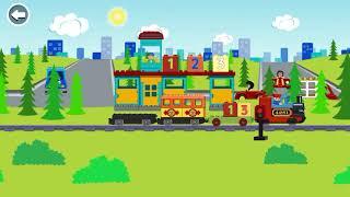 Детское видео, игра в поезд, детская игра, цифры,  Животные, железная дорога, Лего, игра Лего,