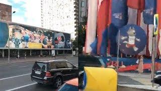 Suasana Jalanan di Kota Moskow Rusia Pasca-Piala Dunia 2018