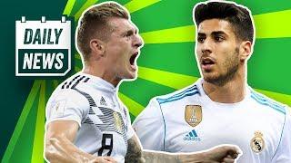 Kroos schießt Deutschland in Extase, Rudy mit Nasenbeinbruch! FC Liverpool bietet €180m für Asensio!