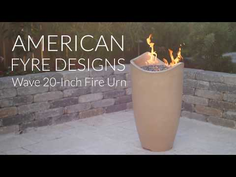 American Fyre Designs Wave 20-Inch Fire Urn - Cafe Blanco