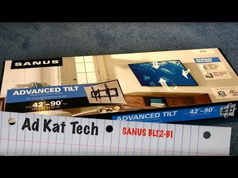 Sanus Wall Mount BLT2-B1 Installation, unboxing, and review