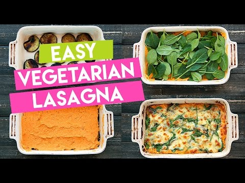 Vegetarian Lasagna Recipe with Sweet Potato, Spinach & Eggplant - Sweet Potato Saturday 3