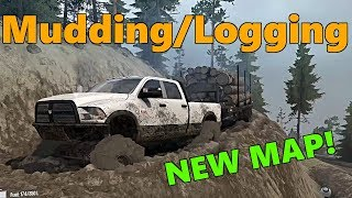 SpinTires MudRunner: NEW MAP! Merry Hill | MUD MOUNTAIN Lumber Delivery
