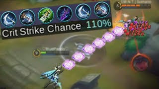 New Hero Karrie 110% Crit Strike Build Mobile Legends Ranked Gameplay