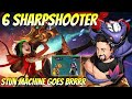 6 Sharpshooter Stun Machine! | TFT Fates | Teamfight Tactics