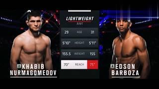 UFC 219 Хабиб Нурмагамедов против Эдсона Барбозы, лучшие моменты боя